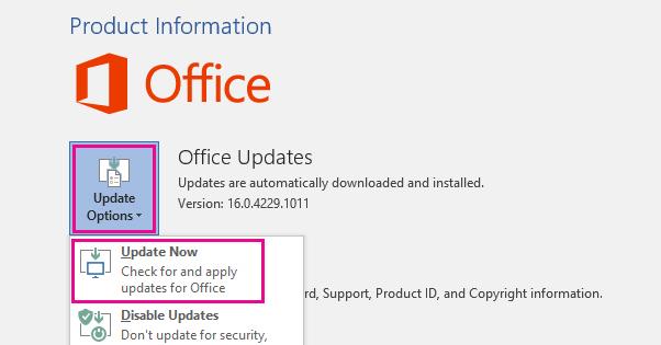Update Outlook App