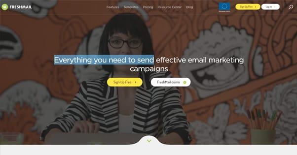 FreshMail Homepage
