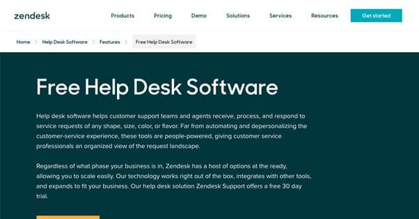 Zen Desk Homepage