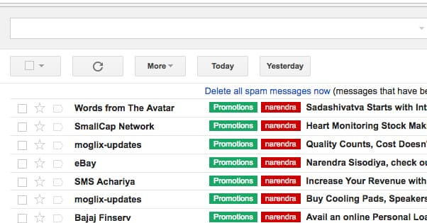 Categorizing Gmail Senders