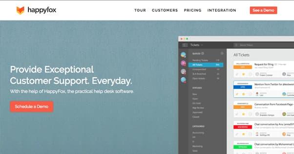 HappyFox Homepage
