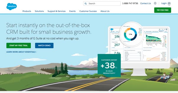 Salesforce Homepage