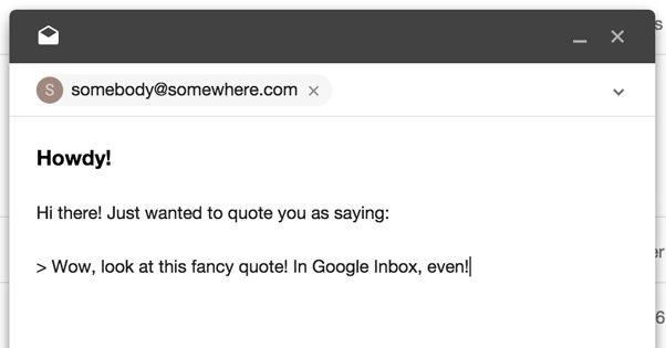 Adding a Quote in Gmail
