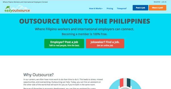 EasyOutsource Homepage