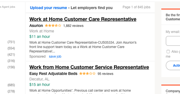 Job Listings for Customer Service