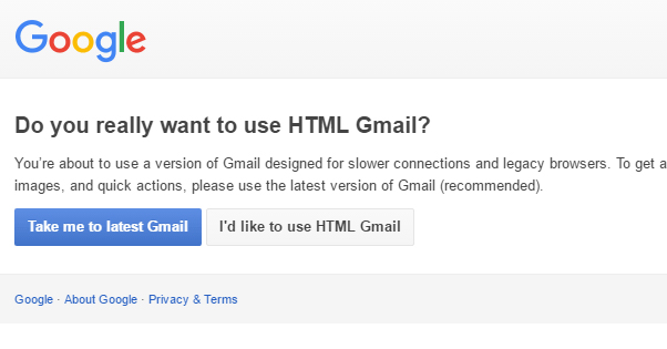 HTML Version Gmail