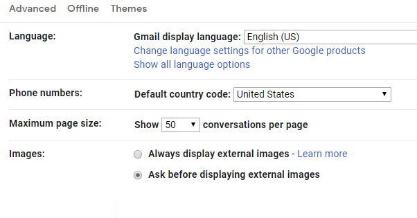 Load External Images Gmail