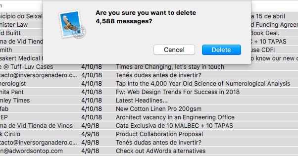 Mail Mail Delete