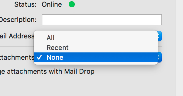 No Attachments on Mac Mail