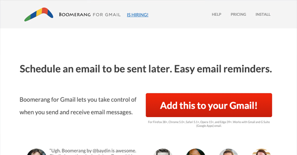 Boomerang Homepage