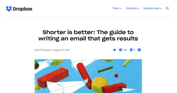 Dropbox Shorter Emails