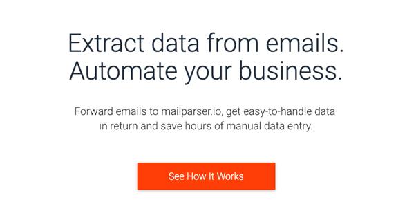 Email Parser Homepage