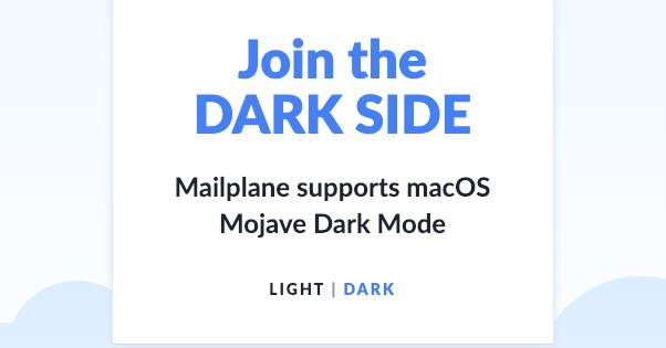 Mail Plane Dark Mode