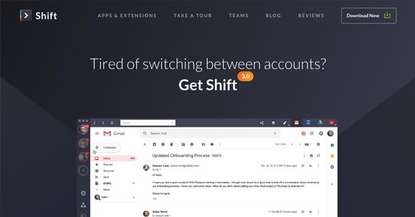 Shift Homepage