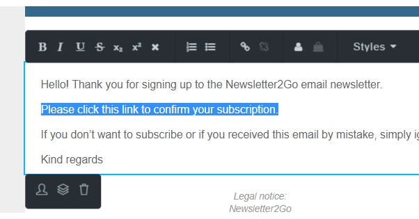 Short Email Newsletter Opt-in