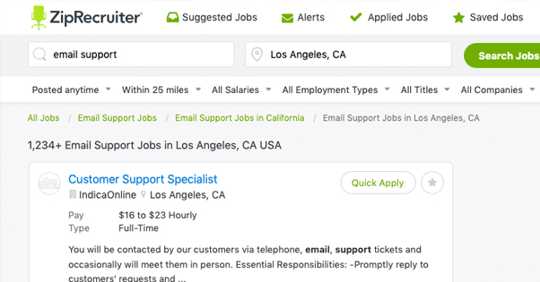 Ziprecruiter Job Listings