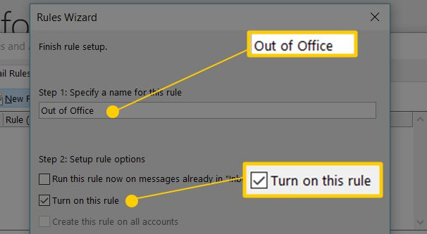 Enabling Autoresponder in Outlook