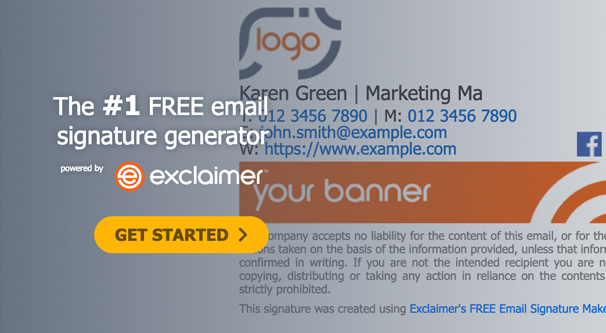 Exclaimer Page