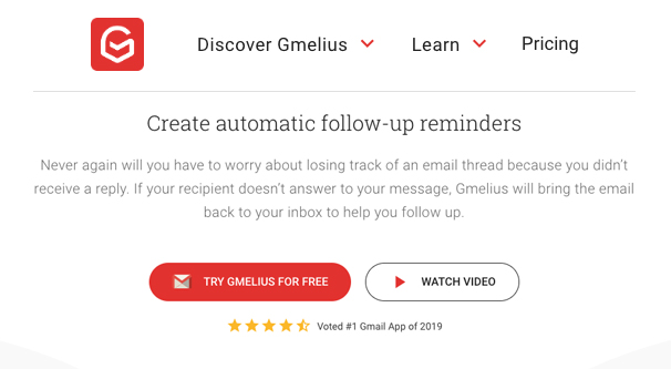 Gmelius Follow Up Reminders
