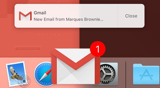 Gmail Mac Notification