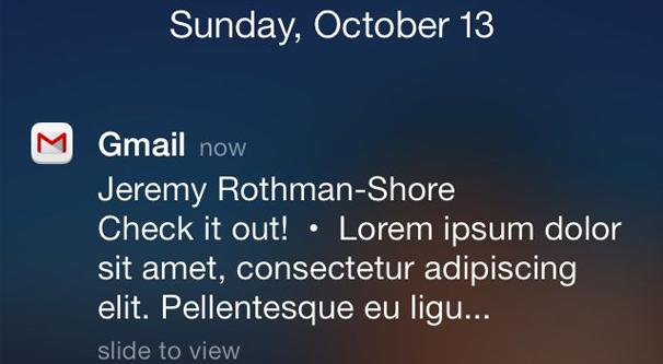 Gmail Push Notification on iPhone