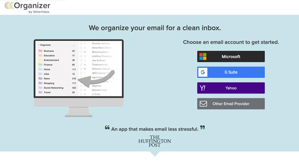 Organizer Homepage