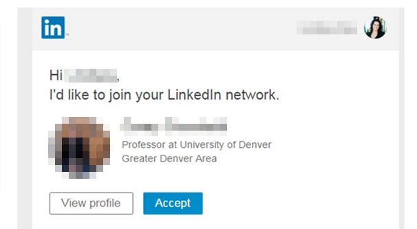 Connecting on LinkedIn