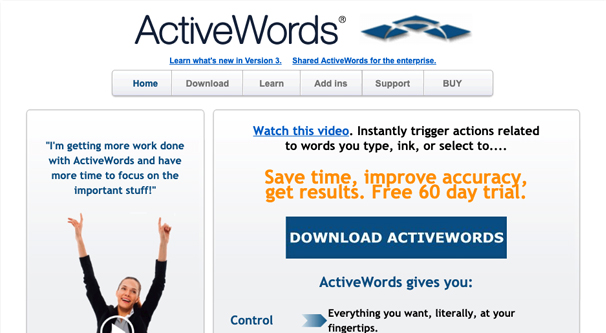 ActiveWords Homepage