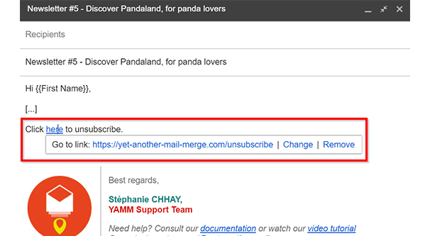 Example Unsubscribe Link