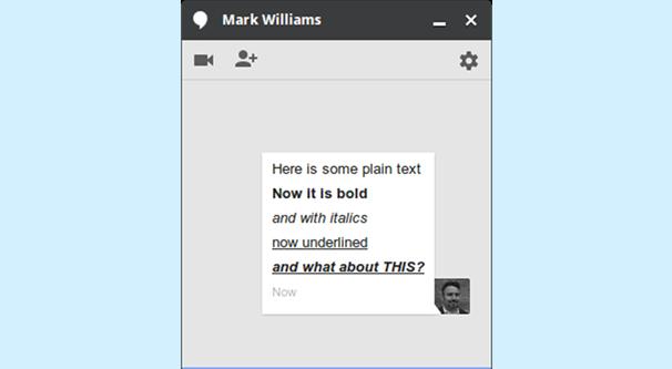 Google Hangouts Shortcut