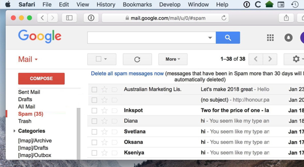 Spam Emails in Gmail