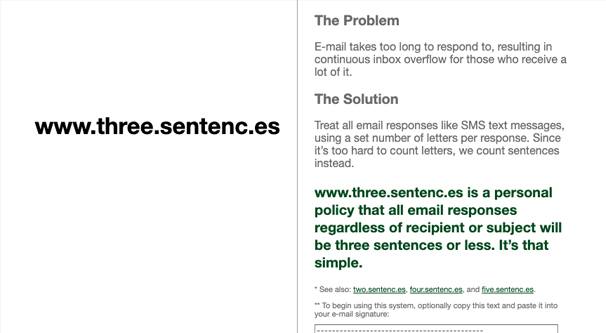 Three Sentences Project