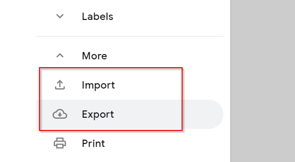 Import Contacts in Gmail